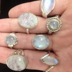 Stone polishing - moonstone rings
