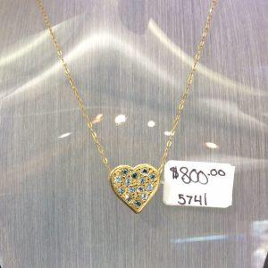 aquamarine pendant heart