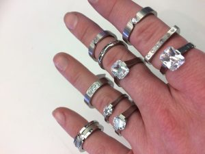 stainless steel city rings
