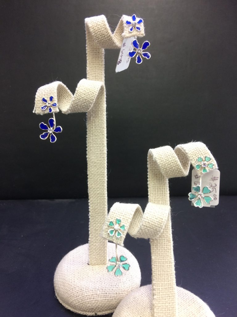 flower drop backing earrings