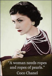 coco chanel on pearls