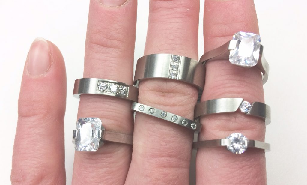 cz mothers day rings