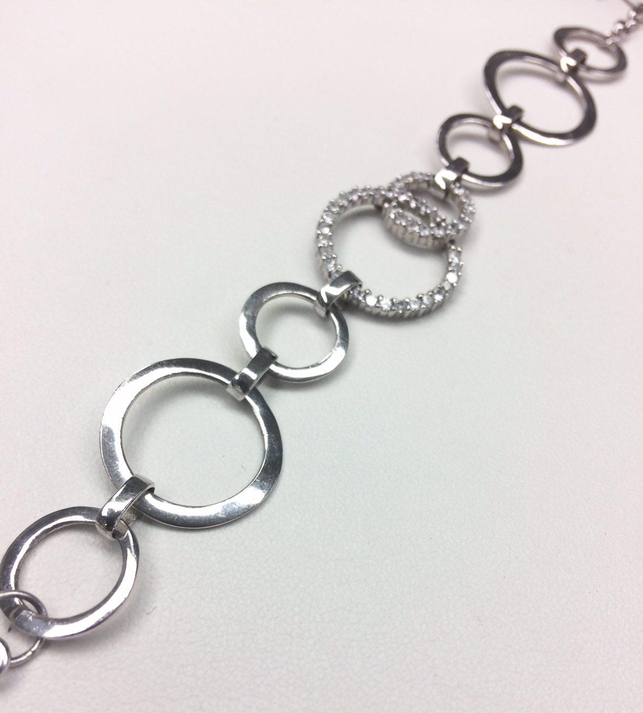cz silver bracelet