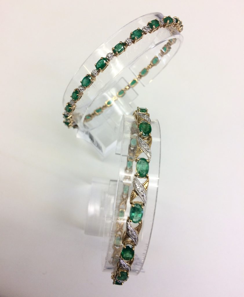 emerald bracelets for May birthstone