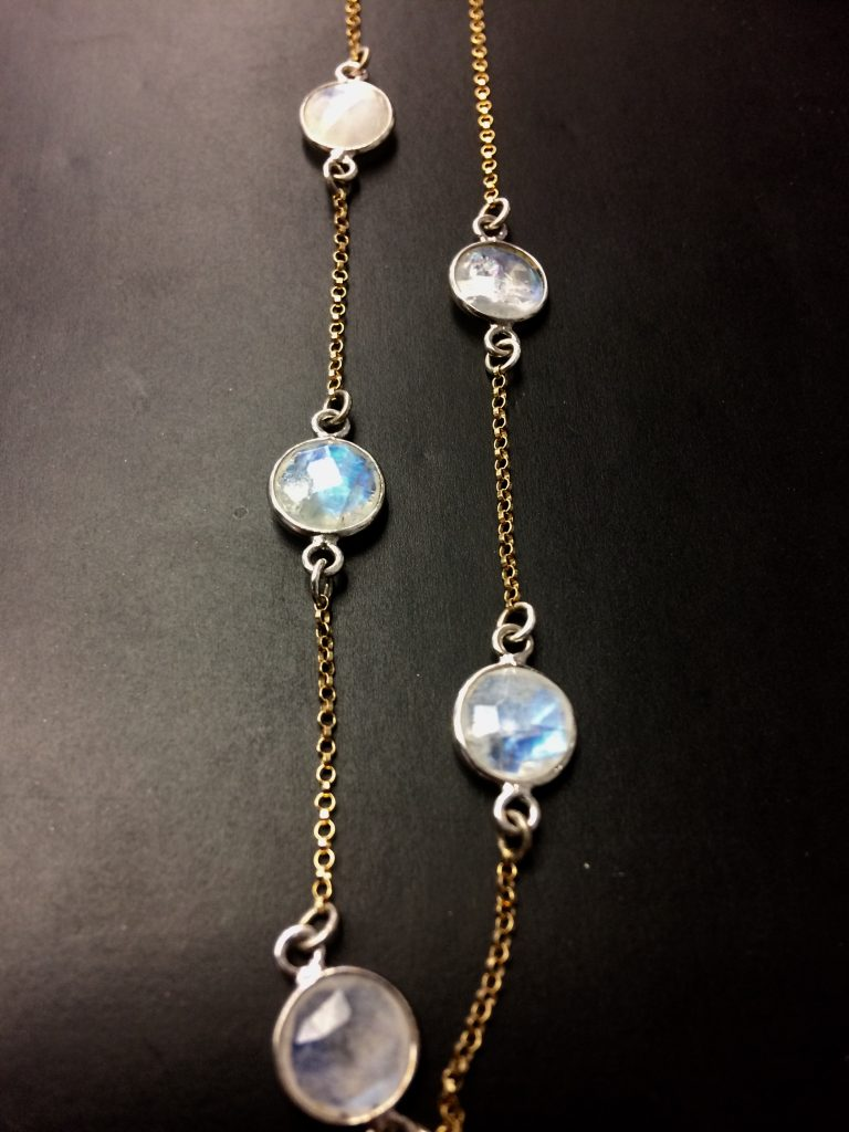moonstone necklace june birthstone