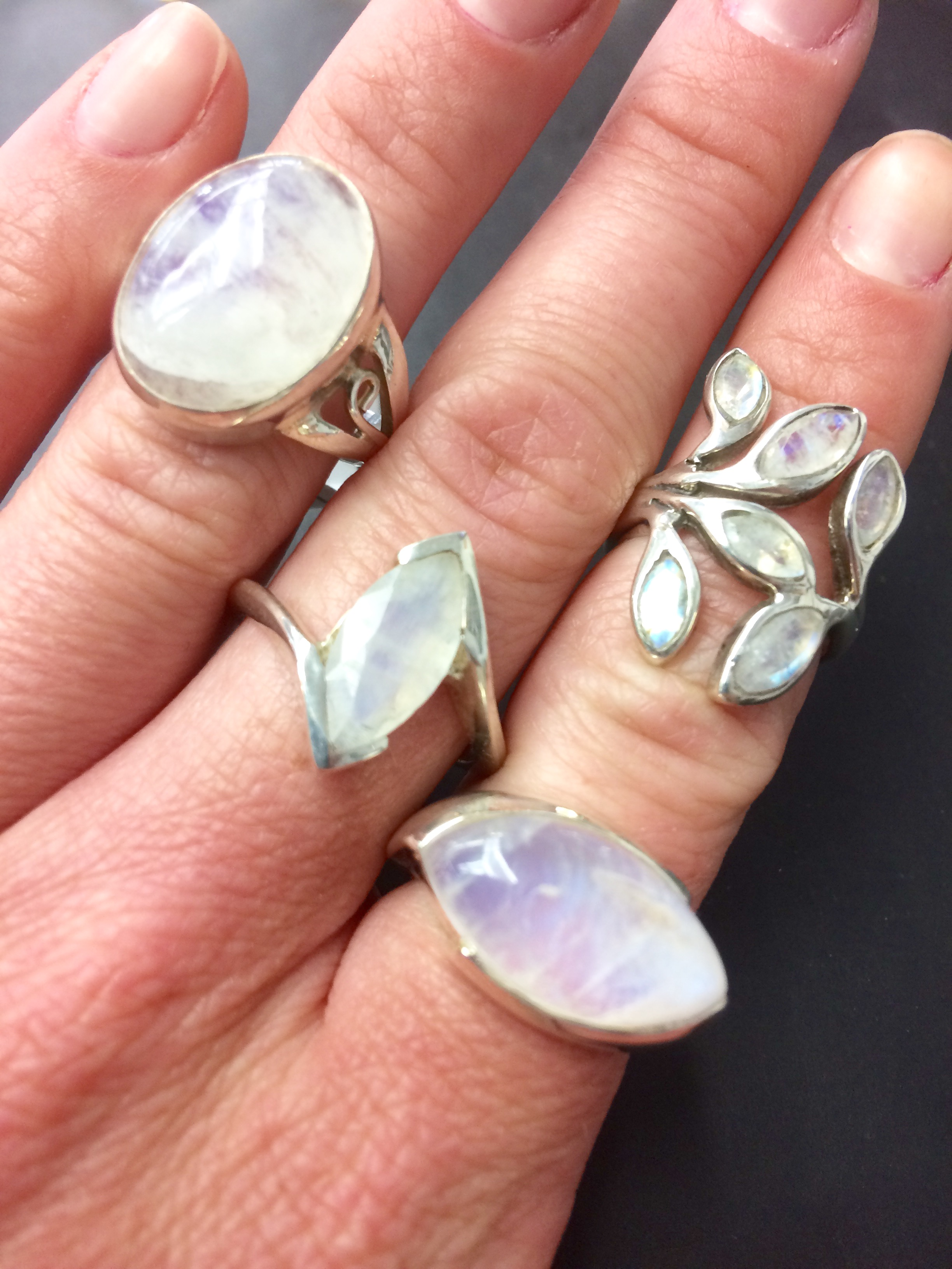 moonstone rings june birthstone