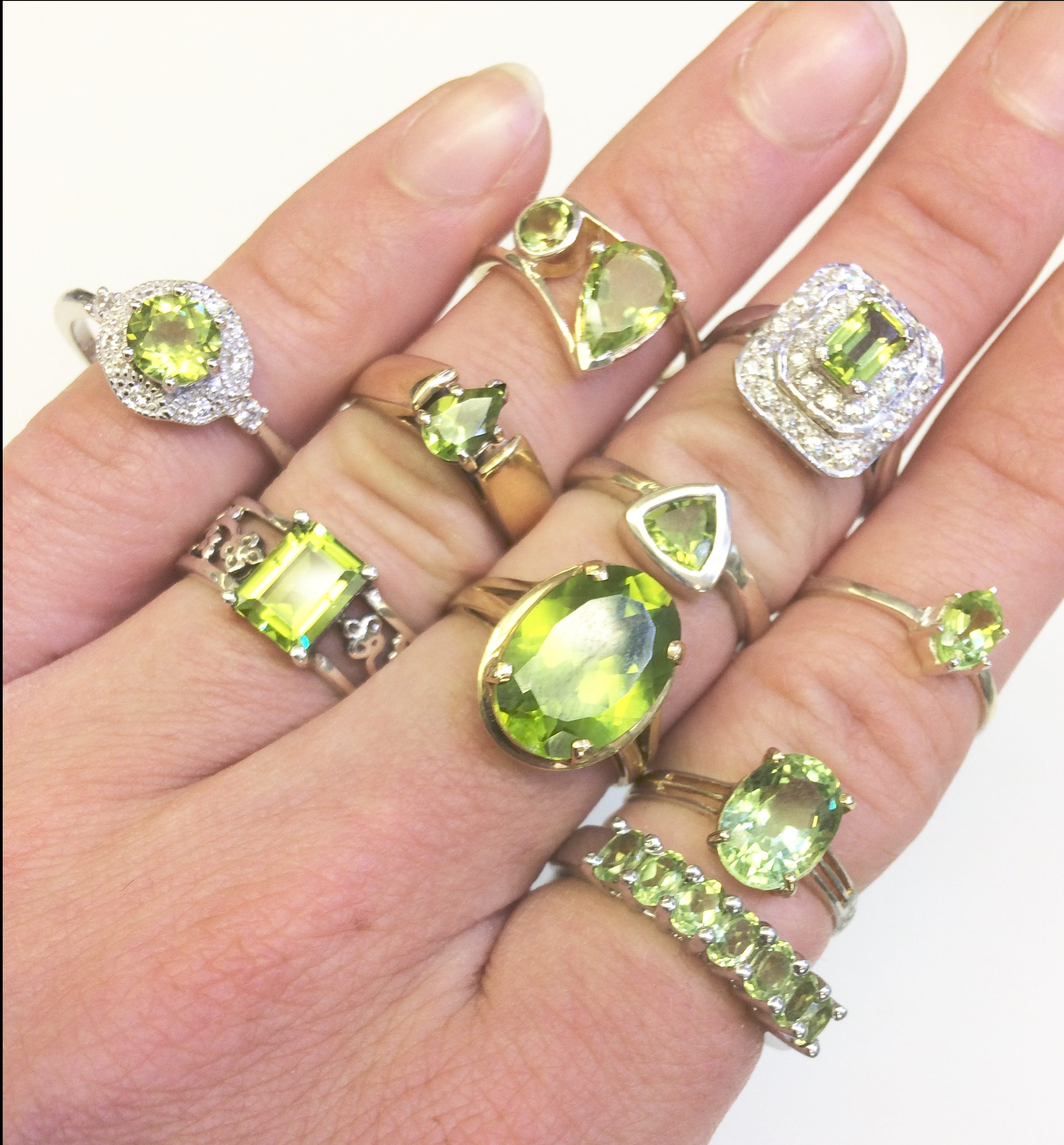 peridot rings august birthstone